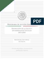 Promocion de La Salud y Determinantes Sociales