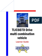 TLIC607D - Drive Multi Combination Vehicle - Learner Guide