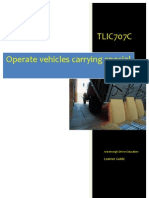 TLIC707C - Operate Vehicle Carrying Special Loads - Learner Guide
