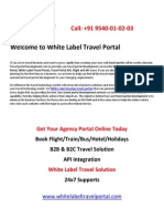 b2b & b2c White Label Travel Portal Development