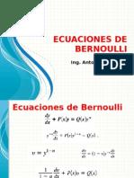 3 Ecuaciones de Bernoulli