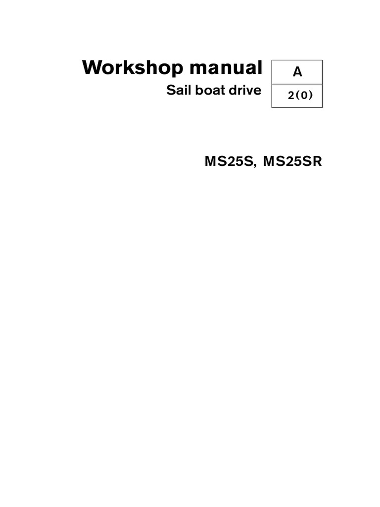 workshop manual saildrive ms25s en ms25sr nut hardware rh scribd com
