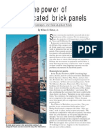 The Power of Prefabricated Brick Panels