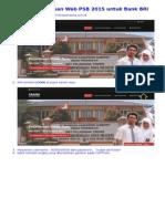 Alur Penggunaan Web PSB 2015 Untuk Bank BRI