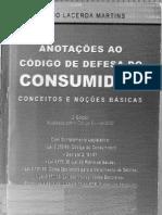 Anotações ao Código de Defesa do Consumidor - Conceitos e Noções Básicas
