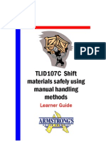 TLID107C - Shift Materials Safely Using Manual Handling Methods - Learner GUide