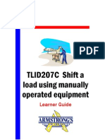 TLID207C - Shift a Load Using Manually Operated Equipment - Learner Guide