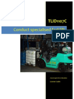 TLID1107C - Conduct Special is Ed Forklift Operations - Learner Guide