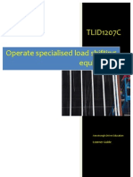 TLID1207C - Operate Special is Ed Load Shifting Equipment - Learner Guide