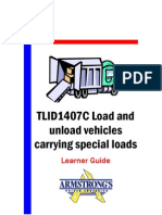 TLID1407C - Load and Unload Vehicle Carrying Special Loads - Learner Guide