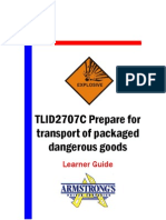 TLID2707C - Prepare for Transport of Packaged Dangerous Goods - Learner Guide