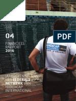 Jaarrekening 2014 van het federale netwerk van Handicap International