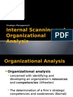 Internal Scanning and Organizational Analysis