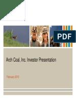 ACI Arch Coal Feb 2010 Presentation