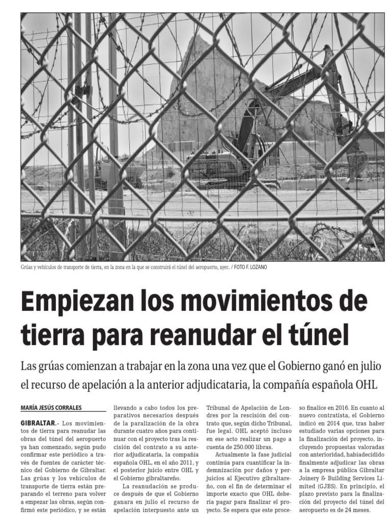 150903 La Verdad CG- Empiezan Los Movimientos de Tierra Para ...