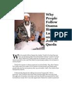 Why Do People Follow Osama Bin Laden and Join Al Qaeda