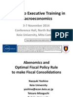 Abenomics and Optimal Fiscal Policy Rule to Make Fiscal Consolidations