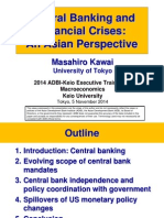 Central Banking and Financial Crises