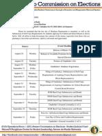 Memo 201532 - Revised Ateneo COMELEC Calendar for SY 2015-2016, 1st Semester