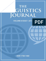 Linguistics Journal Volume 8 Issue 1 2014