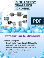 Sizing of Energy Storage for Microgrid