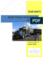 TLIF1007C - Apply Fatigue Management Strategies - Learner Guide
