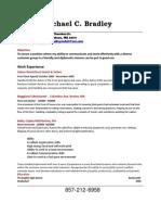 Jobswire.com Resume of Bradleymcb21