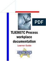 TLIE807C - Process Workplace Documentation - Learner Guide