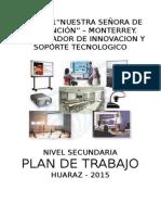 Plan de Trabajo y Capacitación - Coordinador de Innovación y Soporte Tecnologico 2015