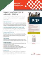 Sierra Wireless AirPrime AR Series Automotive Wireless Modules