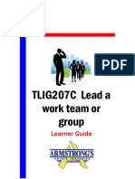 TLIG207C - Lead a Work Team or Group - Learner Guide