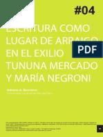Bocchino, Adriana - Escritura Como Lugar de Arraigo en El Exilio Tununa Mercado y María Negroni