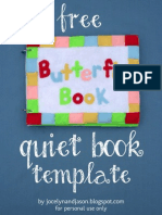 Free Butterfly Quiet Book Template