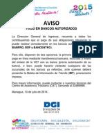 54 - Aviso - Pago en Bancos - 100715