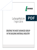 04072014 Press Finance LafargeHolcim Merger Project Announcement Presentation Uk