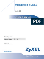 Manufacturer User Home Station VDSL2 Zyxel P8701T