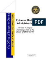 Inspector General of VA Report
