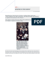 The Third Secret Regards Apostasy in the Church