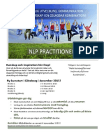 NLP - kommunikation, ledarskap och personlig utveckling 2015-2016 i Göteborg