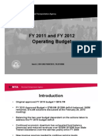 FY 2011 and FY 2012 Operating Budget