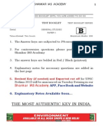 GS Preliminary 2015 QUESTIONS Answer Key