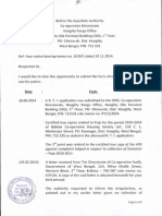 Communication to the Appellate Authority on Monday, 1 December 2014