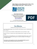 Union Temple of Brooklyn Religious School Manual 2015-2016