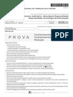 Gabarito Prova FCC 2011 - Tecnico Judiciario - Tecnologia de Informacao