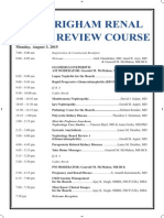 Bwhrenal Schedule