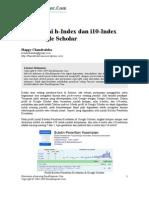 memahami h-index dan i10 index Google Scholar