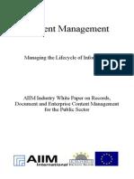 [EN] DLM Forum Industry Whitepaper 03   Content Management   Filenet   Royce Murphy and James DeFerrari   Hamburg 2002