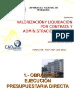 Val. Adm. Directa - Valorización