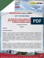 Tips Energeticos No 2 Ref Ley 1715 2014