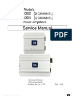 JBL MA6002_MA6004 Marine Models Power Amplifiers 2 & 4 Chanel